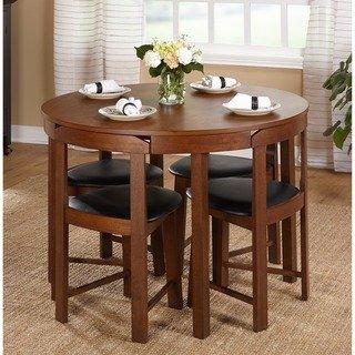 Harrisburg 5-piece Tobey Compact Round Dining Set