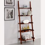 Wood leaning ladder bookcase a stylish   way to organize your books