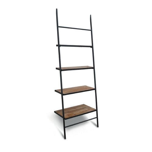 Gracie Oaks Burkholder Wood Leaning Ladder Bookcase