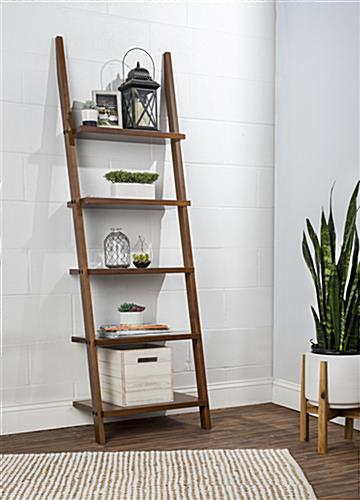 5 incremental shelf ladder bookcase