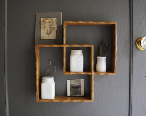 vintage wooden shelves by littlebyrdvintage on Etsy | Decor in 2019