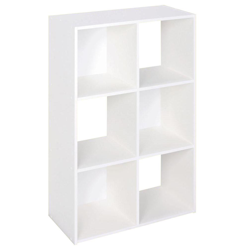 H White Stackable 6-Cube Organizer