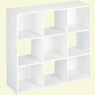 H White Stackable 9-Cube Organizer