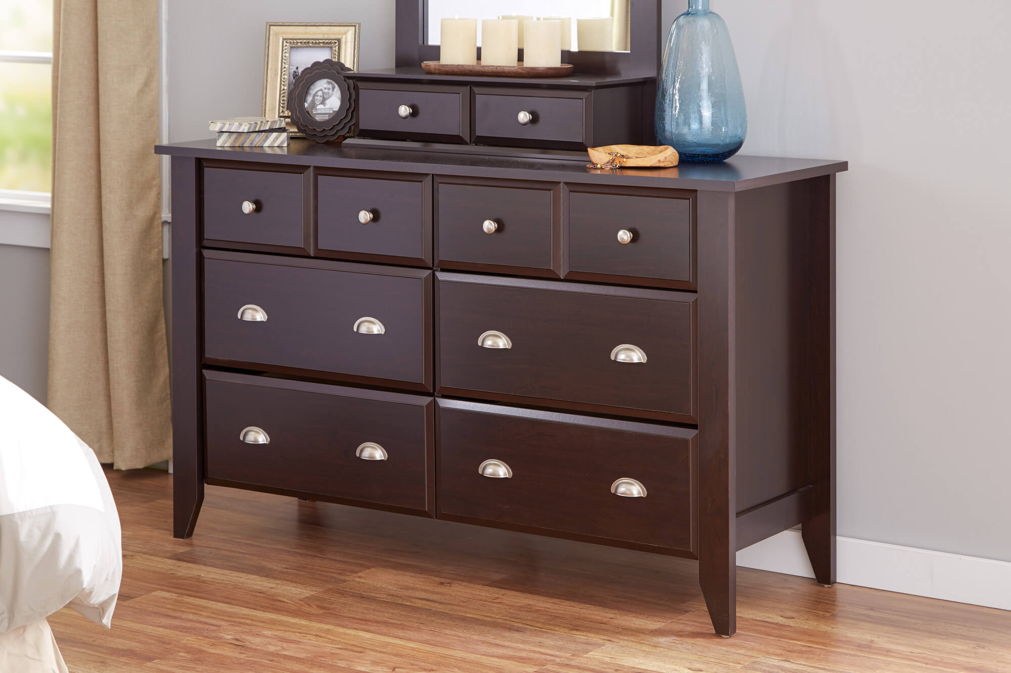 The standard dresser design came from one of the oldest pieces of furniture  invented: the