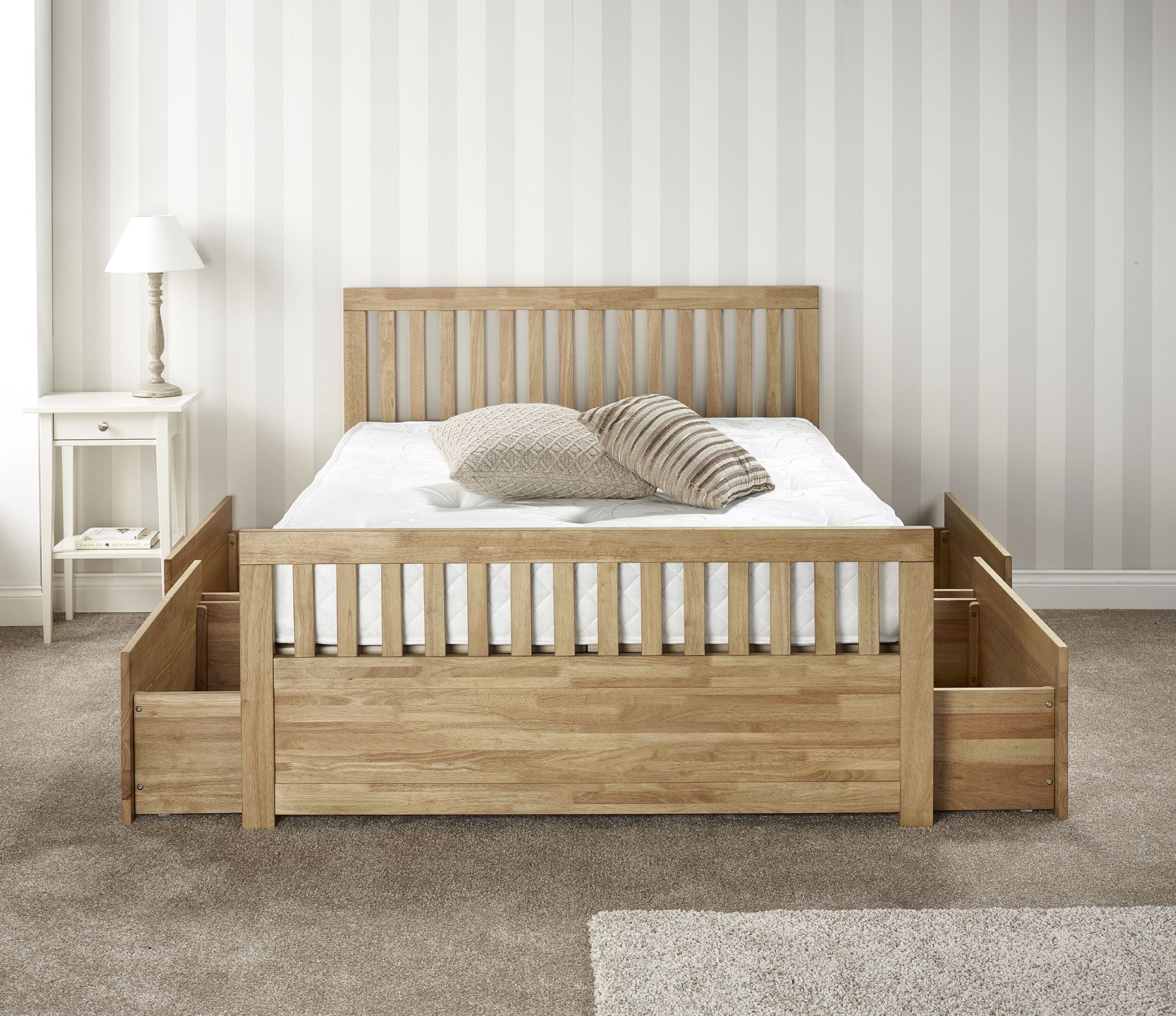 The Italian Furniture Company Leeds Ltd Importers And. Wooden Bed With Storage  Drawers