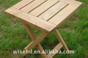 (W-T-2065) solid wood folding tea table
