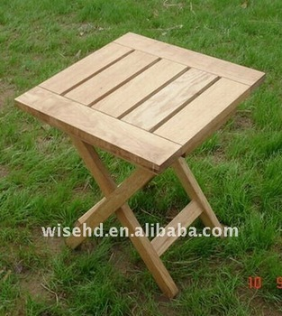 A fashionable wooden folding tea table   design