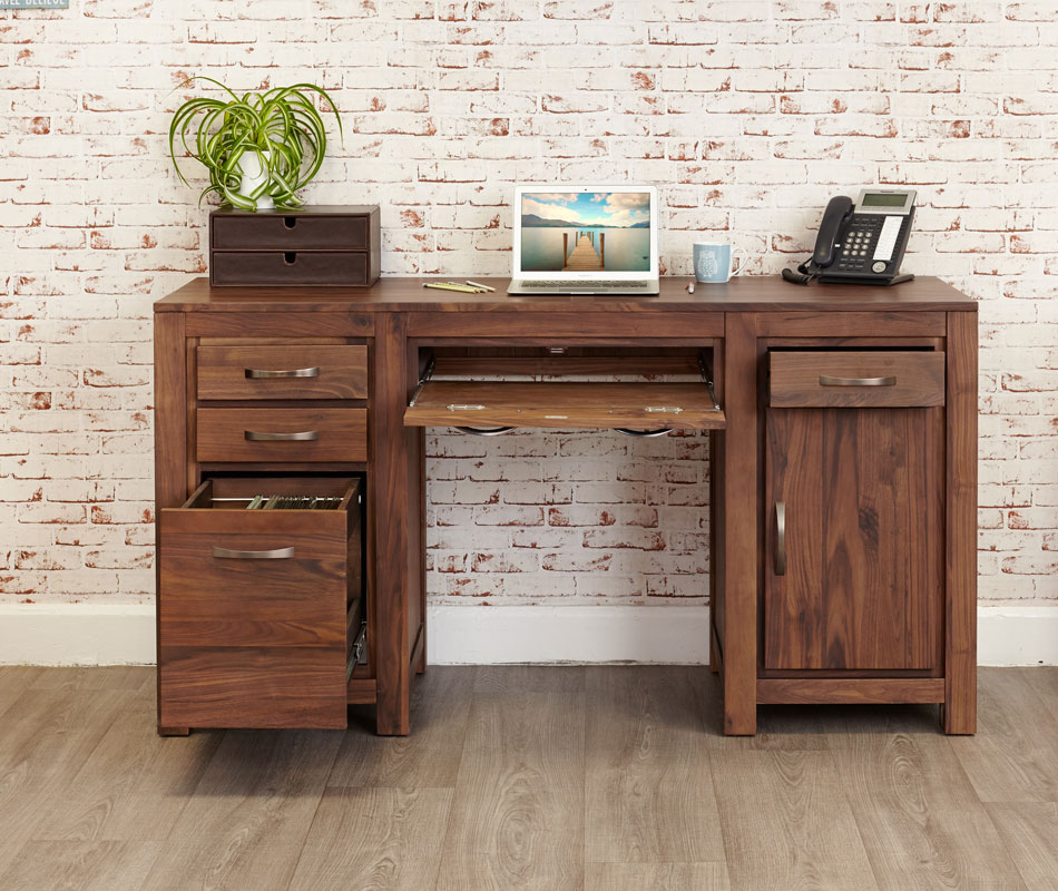 home office furniture at wooden furniture store Walnut Computer Desks For  Home layout design minimalist