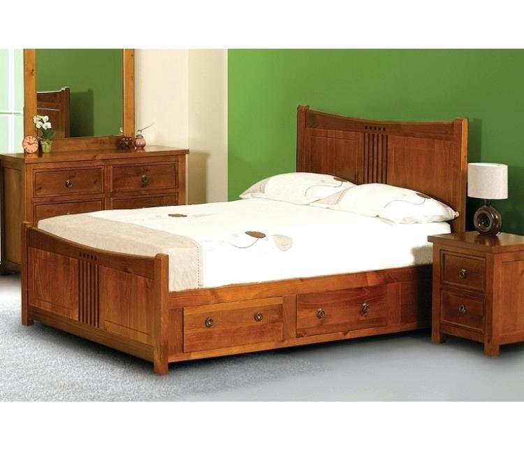 king size bed with drawers sweet dreams curlew wild cherry king size wooden  bed frame with