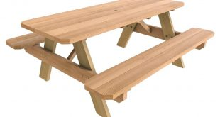 Store SKU #588756. 28 in. x 72 in. Wood Picnic Table
