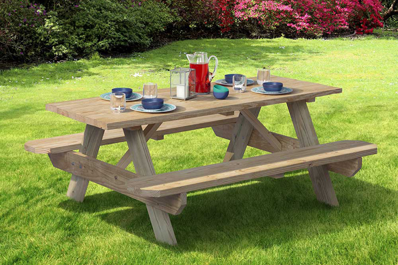 Picnic Tables. outdoor essentials wooden picnic table