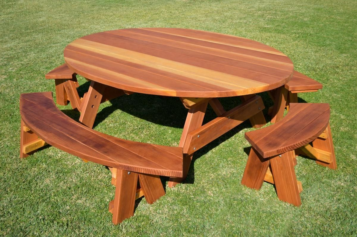 Love this redwood bench