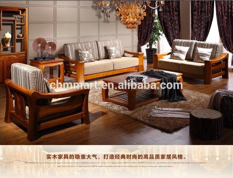 Source teak wood sofa set design for living room/living room