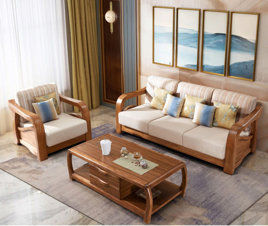 China Latest Fabric Sofa Set Living Room Furniture Pictures of