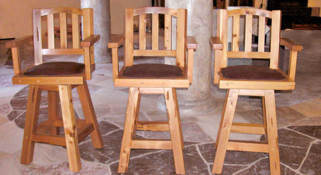 Wonderful Wooden Bar Stools With Backs And Arms Wooden Swivel Bar