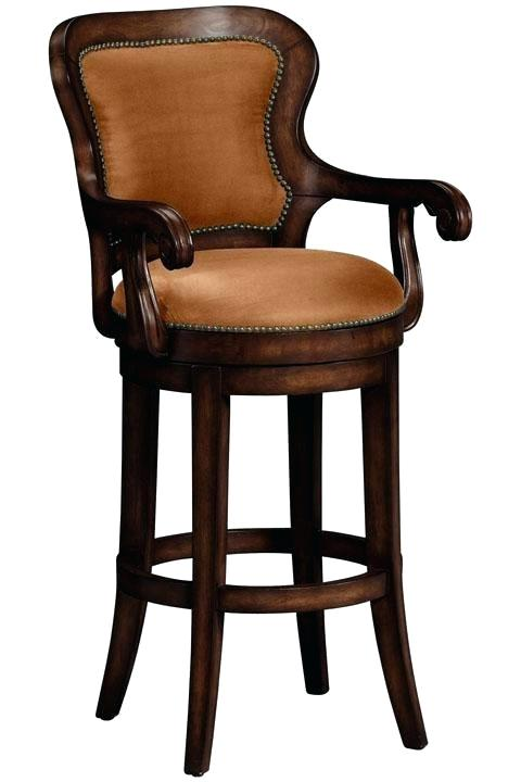 decoration: Wood Swivel Bar Stools With Arms Back And. Swivel Bar