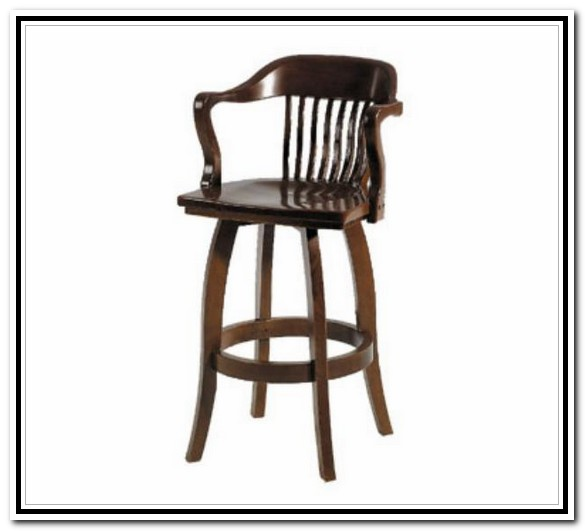 Wonderful Wooden Bar Stools With Backs And Arms Wood Swivel Bar