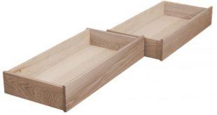 Natural Oak Under Bed Storage Drawers | The Futon Shop