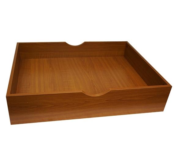 The Storage MAX - Underbed Wooden Organizer With Wheels - Cherry