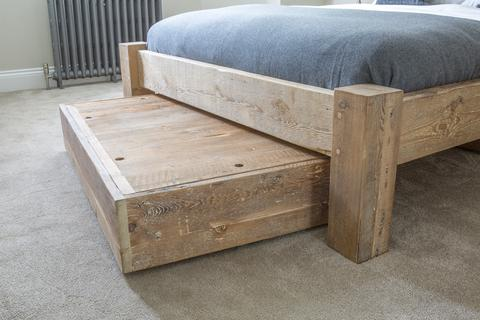 Reclaimed Wood Underbed Storage and Drawers - Eat Sleep Live