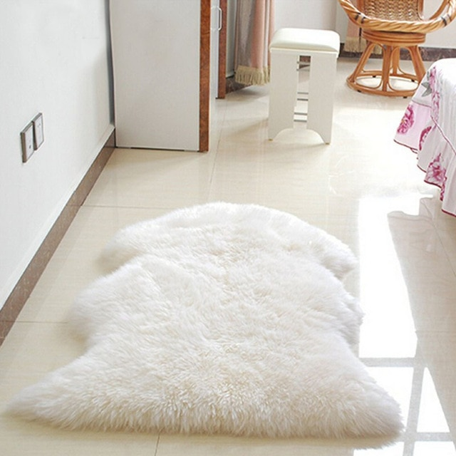 Artificial Wool Carpet for chair sofa Bedroom Sheepskin Cover Faux