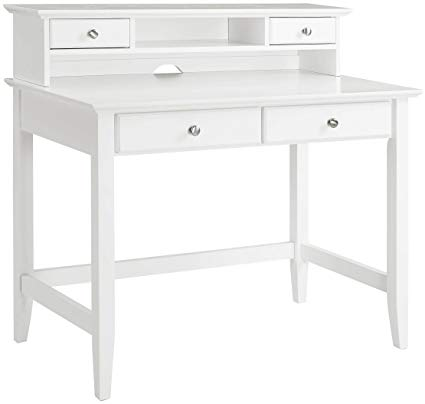 Traveller Location: Crosley Furniture KF65004WH Campbell Writing Desk with Hutch -  White: Kitchen & Dining